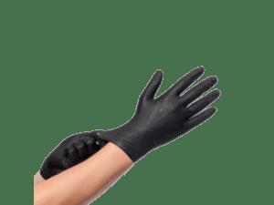 Sanitizers en wegwerphandschoenen